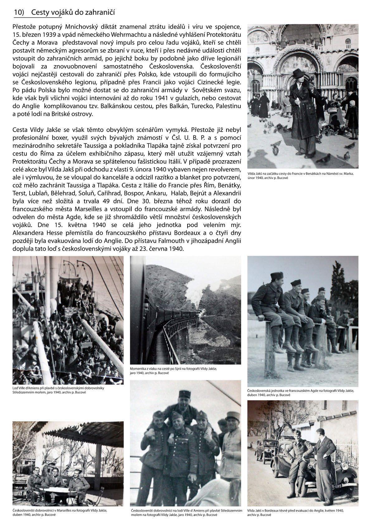 Výstava Vilda Jakš - cesty vojáků do zahraničí