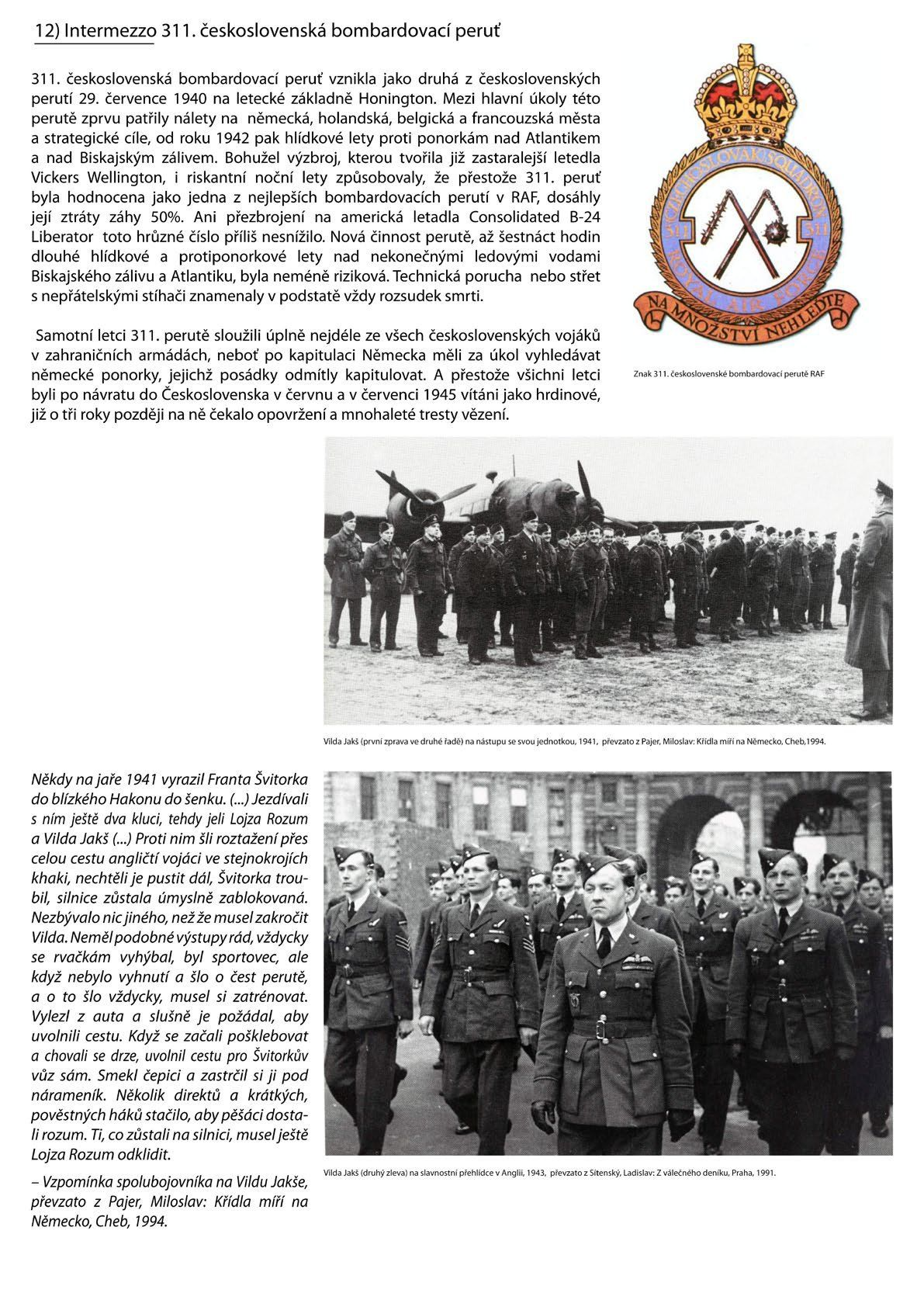 Výstava Vilda Jakš - 311. československá bombardovací peruť