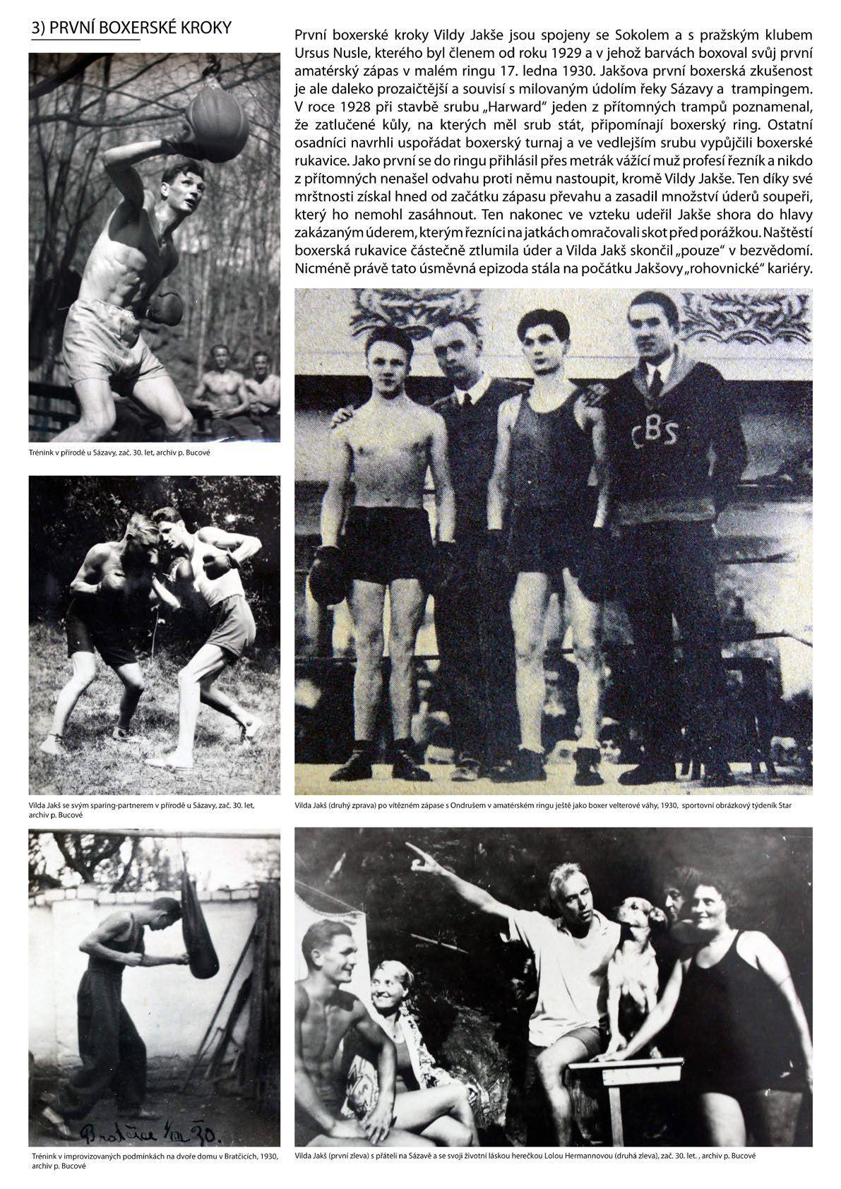 Foto Vilda Jakš - první boxerské kroky